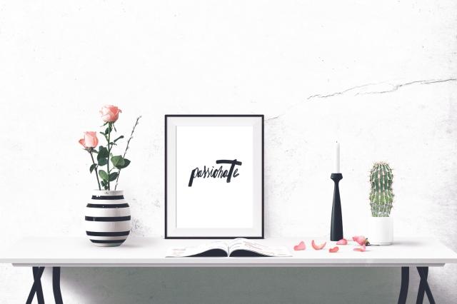 Kalligrafie Kunstdruck